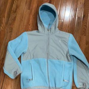 The North Face Light Blue & Gray Fleece Jacket Med